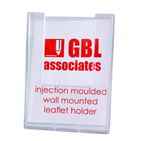 Wall Mounted Injection Moulded Leaflet Holders