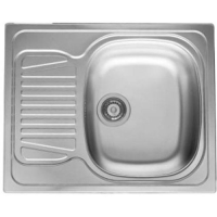 pyramis sparta (62x50) 1d single bowl compact sink - stainless steel