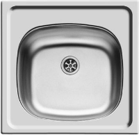 pyramis e33 92mm waste inset stainless steel sink 100140001
