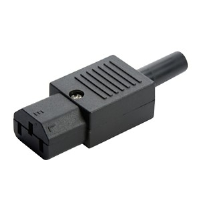 C13 straight female re-wireable iec kettle plug