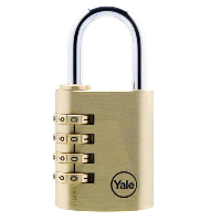 Yale 150 Brass Open Shackle Combination Padlock
