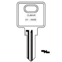 Ojmar A1 to A698 Cabinet Keys