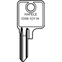 Hafele 1D58 to 1D114 Cabinet Keys