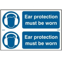 Ear Protection Must Be Worn Sign 2 Per Sheet
