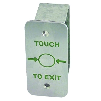 Narrow Style Touch Sensitive Stainless Steel Exit Button