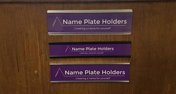 Name Plate Holder Suppliers Brackley