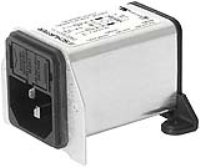 DA22.8111.11 - IEC Appliance Inlet C14 with Filter, Fuseholder 1- or 2-pole, for PCB Mounting