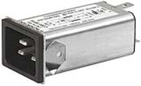 C20F.0122 - IEC Appliance Inlet C20 with Filter, Front or Rear Side Mounting