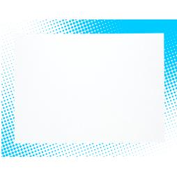 Double Sided Brilliant White Pearlescent Card