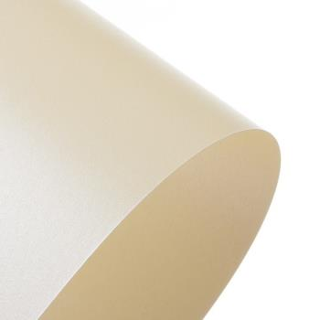A4 Centura Golden Ivory Pearlescent Card Double Side Pack Size : 1 Sheets