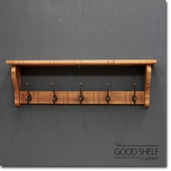 Hat & Coat Rack with Shelf