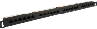 "0.5U Slimline CAT6 GIGABIT Patch Panel with 24 Port 19"" Rack Mountable"