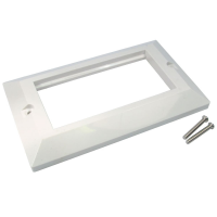 Faceplate 4 Port Bevelled Double Gang 146 x 86mm for RJ45 Modules