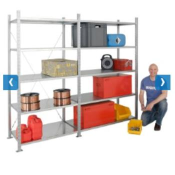 Galvanised Shelving in Bulk