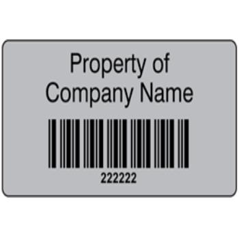 Scanmark foil barcode label (black text), 19mm x 38mm