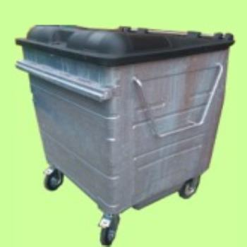 1280 ltr Galvanised Metal Wheelie Bin