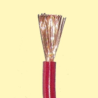 Cable 10mm Single insulated, Multi stranded, Red (sold by the me