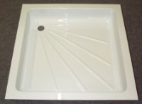 Acrylic Shower Tray - 585mm x 585mm x 100mm White