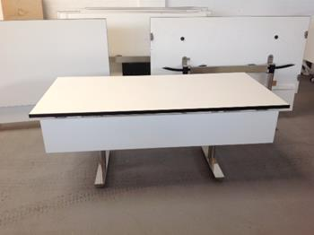 1800 x 900mm white top tilt conference tables  (CE)