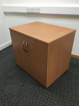 Desk high Beech double door cupboard