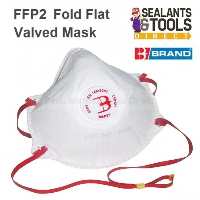 B Brand P2 Disposable Valved Safety Face Mask Dust & Fume FFP2