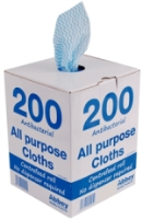 Yellow Antibacterial All Purpose Cloths (Box Of 200) (DN845)
