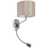 Ocara Armed Wall Light with Flexiable LED & Oyster Shade