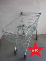 100 Litre Used Shallow Supermarket Trolley x TEN
