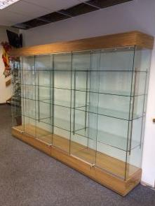 Wood Trophy Cabinets for Schools