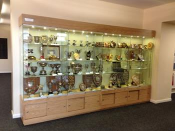 Oak Trophy Cabinet  for Universities