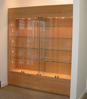 Oak Trophy Cabinet  for the Education Sector