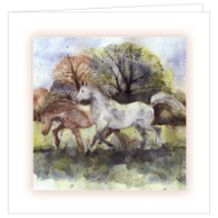 Galloping Ponies Bereavement Cards