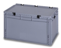 Deep Solent Plastics Stacking Plastic Container with Hinged Lid