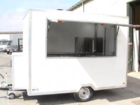 Coffee Trailer in White