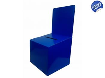 Blue Cardboard Survey Box