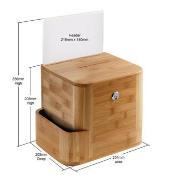 Bamboo Wood Stylish Suggestion Box