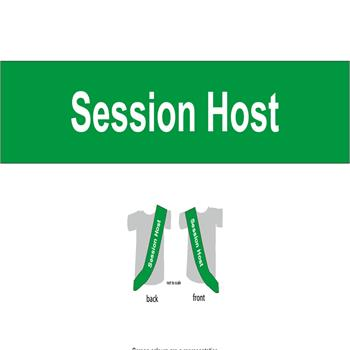 Sashes for conferences meetings and events