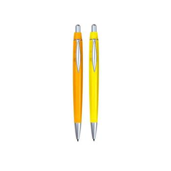 Albany Plastic Retractable Pens in Frosted Colours