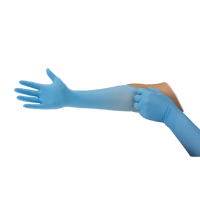 Pack 100 Ansell Microflex 93-243 Blue Nitrile Disposable Gloves Large