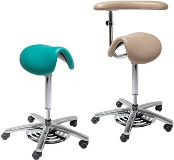 Hand Free Pneumatic  Surgeon Saddle Seat