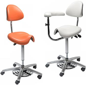 High grade Medi Saddle Chair with Pneumatic Foot Control