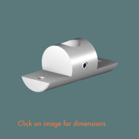 R.10(12) Double Sided Shelf Support (solid) Satin Polished Stainless Steel