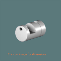 R.11(6) Picture Support Hook (2 piece component) Satin Anodised Aluminium