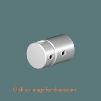 R.12(6) Single Rod Wall Mounting Satin Polished Stainless Steel