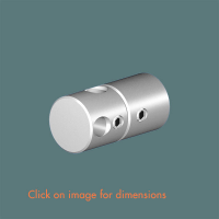 R.13(6) Double Rod Wall Mounting Satin Polished Stainless Steel