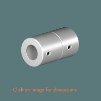 R.14(12) Wall End Mounting Satin Polished Stainless Steel