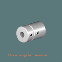 R.14(6) Wall End Mounting Satin Polished Stainless Steel