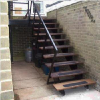 Cast Metal Fire Escape Stair Repairs