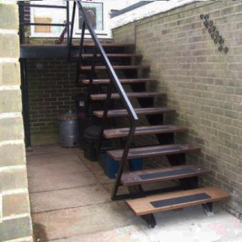Cast Metal Fire Escape Stairs Repairs and Renovation