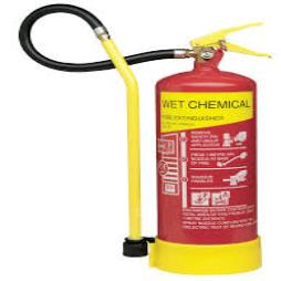 Yellow Wet Chemical Type Fire Extinguishers